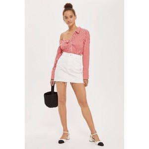 Topshop Moto White Denim Skirt